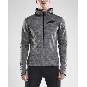 Craft M's Eaze Jersey Hood Jacket Black Melange